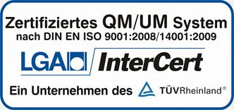 Zertifiziertes QM/UM des TÜV Rheinland